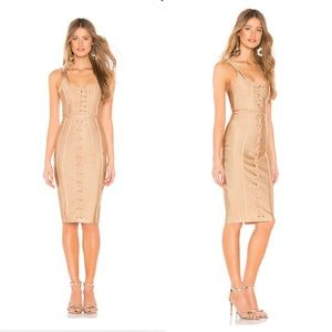 Ryann Bandage Skirt Set Nude, by the way. XS